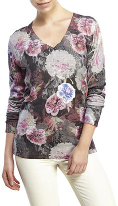 robert graham Adaire Printed Sweater $248 thestylecure.com