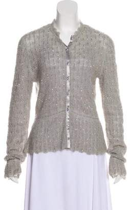 Ungaro Emanuel by Mohair Blend Embellished Cardigan