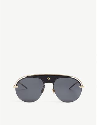 f705815fe87a Christian Dior Ladies Black and Gold Timeless Dio(R)Evolution Pilot-Frame  Sunglasses