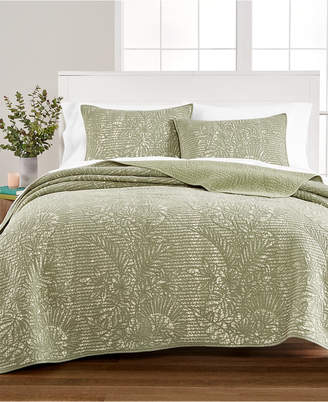 Martha Stewart Collection Botanical King Quilt, Created for Macy's