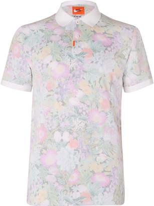 Nike Floral-Print Dri-FIT Cotton-Blend Pique Golf Polo Shirt - Men - Pink