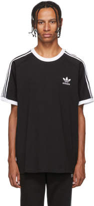 adidas Black and White Striped T-Shirt