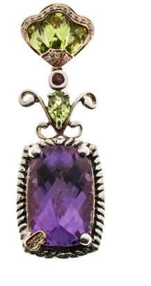 Bellari 18K Pink Gold & 925 Sterling Silver with Amethyst, Peridot, Garnet & Diamond Pendant