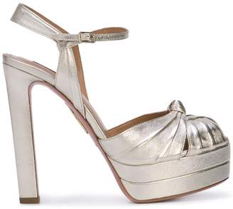 Aquazzura knot detail sandals