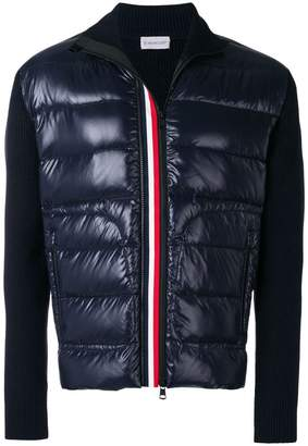 Moncler padded-panel cardigan