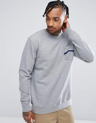 Vans Stripe Pocket Fleece Sweatshirt VA391S02F