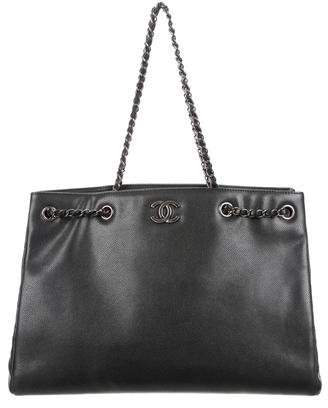 Chanel 2016 Large Woven Chain Shopping Tote