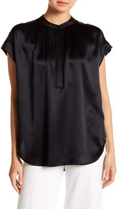 Vince Silk Mock Neck Blouse
