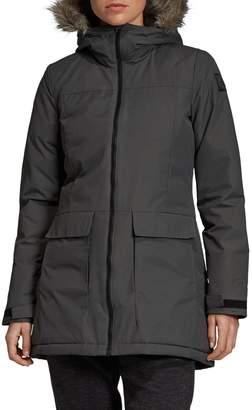 adidas Faux Fur-Trim Zip-Front Parka