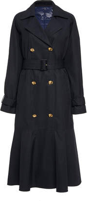 Tibi Flare Belted Cotton Trench Coat