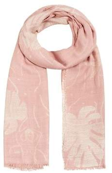 MANGO Floral embroidery scarf