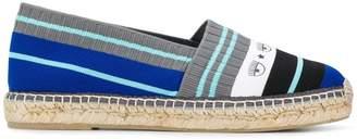Chiara Ferragni striped slippers