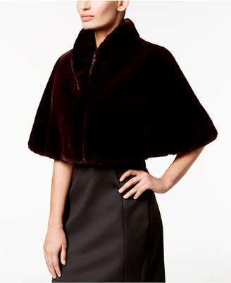 Betsey Johnson Faux-Fur Cape