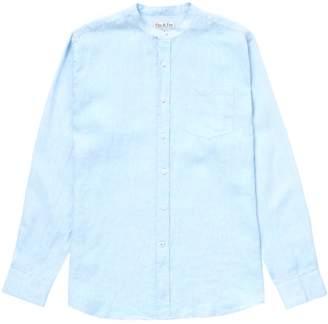 Fit-Z Fitz & Fro Linen Collarless Shirt Sky Blue
