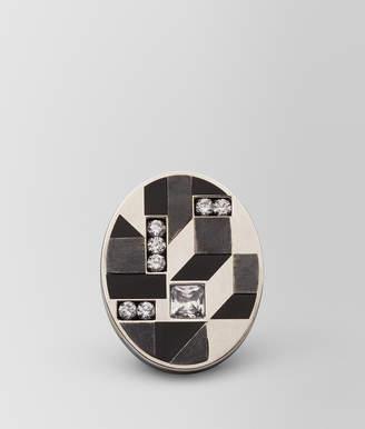 Bottega Veneta CUBIC ZIRCONIA/ENAMEL/SILVER RING