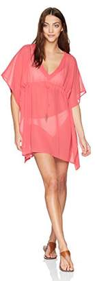 Echo Women's Solid Silky Butterfly Swim Cover-up