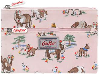 Cath Kidston Shetland Ponies Kids Double Zip Pencil Case