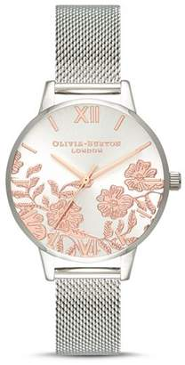 Olivia Burton Lace Detail Watch, 30mm