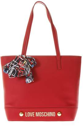 Love Moschino Red Handbag With Scarf Detail