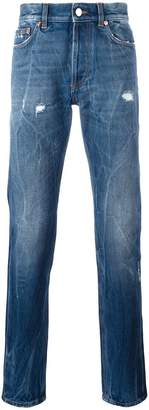 Givenchy creased effect tapered jeans
