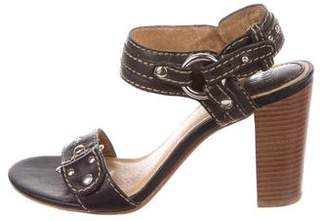 Frye Leather Ankle-Strap Sandals