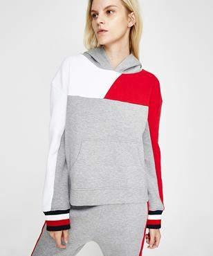Tommy Jeans Athletic Bekki Colour Block Hoodie Grey