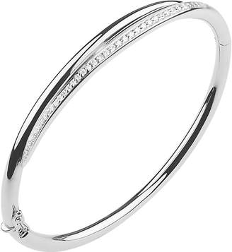 Shaun Leane White Feather sterling silver and diamond cuff bracelet