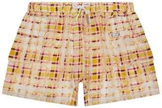 Burberry Check Print Shorts
