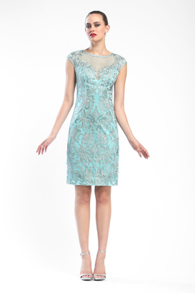 Sue Wong - N16160 In Turquoise Dress $558 thestylecure.com