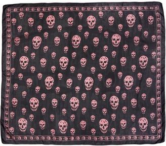 Alexander McQueen Navy Skull Scarf $295 thestylecure.com