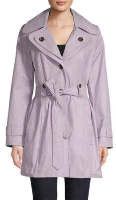London Fog Double Collar Belted Coat