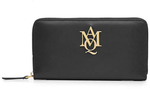 Alexander McQueen Alexander McQueen Leather Continental Zip-Around Wallet