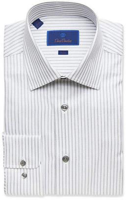 David Donahue Men's Trim-Fit Check Dress Shirt