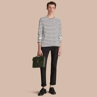 Burberry Straight Fit Cotton Chinos
