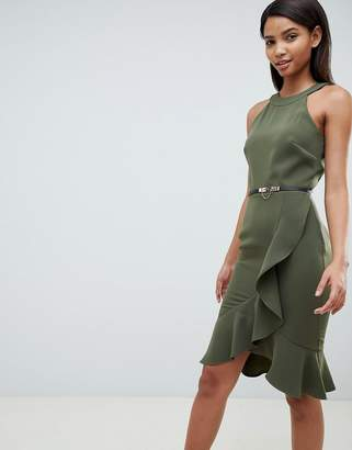 Paper Dolls Halter Neck Dress With Frill Detail