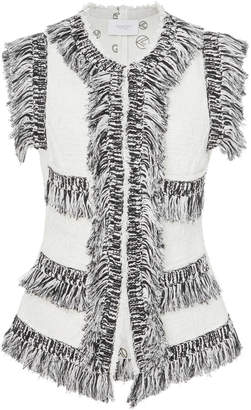 Giambattista Valli Fringe-Trimmed Cotton-Blend Vest