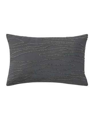 "Waterford Beaded Blossom Pewter Pillow, 12"" x 18"""