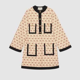 Gucci (グッチ) - ローズ プリント ヴィスコースジャージー ドレス