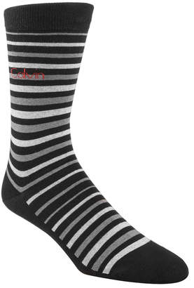 Calvin Klein Men's Striped Dress Socks