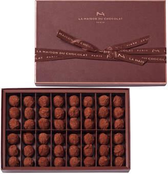 La Maison du Chocolat 48-Piece Dark Chocolate Truffles Box