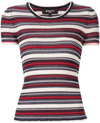 Paule Ka striped knit T-shirt