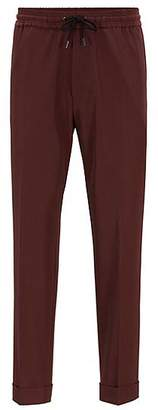 HUGO BOSS Relaxed-fit cropped trousers with drawstring waist