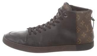 Louis Vuitton Monogram High-Top Sneakers