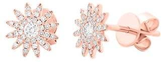 Ron Hami 14K Rose Gold Diamond Sun Stud Earrings - 0.24 ctw
