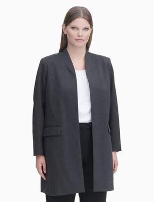Calvin Klein plus size open long jacket