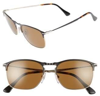 Persol Evolution 55mm Polarized Aviator Sunglasses