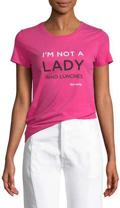 Iris Barrel Apfel I'm Not a Lady Who Lunches Crewneck Deluxe Cotton Tee