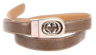 Gucci Leather GG Belt