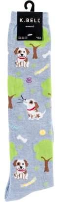 K. Bell Novelty Knee High Socks - Dog Park