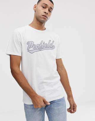 Penfield mendona chest logo crew neck t-shirt in white
